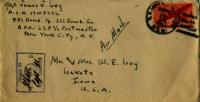 Jimmy Ley to Mr. and Mrs. W. E. Ley - December 13, 1943
