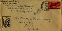 Jimmy Ley to Mr. and Mrs. W. E. Ley - December 20, 1943