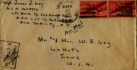 Jimmy Ley to Mr. and Mrs. W. E. Ley - January 8, 1944