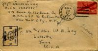 Jimmy Ley to Mr. and Mrs. W. E. Ley - January 14, 1944