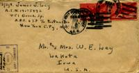 Jimmy Ley to Mr. and Mrs. W. E. Ley - February 5, 1944
