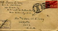 Jimmy Ley to Mr. and Mrs. W. E. Ley - February 8, 1944