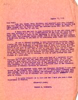 Letter from Harold S. Matthews to Paul
