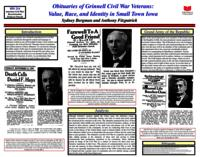 Obituaries of Grinnell Civil War Veterans: Value Race and Identity in Small Town Iowa