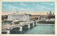 Locust Street Bridge and Municipal Building, Des Moines, Iowa
