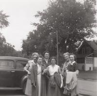 Six Women In Front of Car