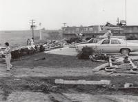Aftermath of 1978 Tornado at Motel Grinnell