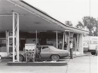 Aftermath of 1978 Tornado at Rick's 66 Service Station