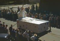 Giant Mattress With Stars and a Person in 1949 Grinnell Day Parade