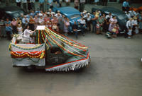 Telephone Service Float in the 1949 Grinnell Day Parade