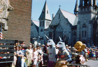 Two People Dressed as Donkeys in the 1949 Grinnell Day Parade