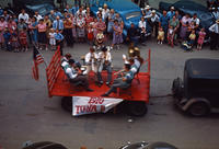 1910 Town Band Float in 1949 Grinnell Day Parade