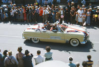 City Officials in Convertible in 1949 Grinnell Day Parade
