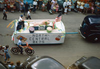 North central MKT-S Float in 1948 Grinnell Day Parade