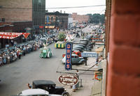 Aerial View of Floats in 1948 Grinnell Day Parade