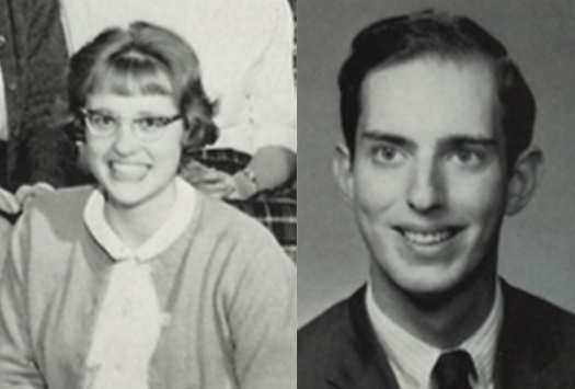 Karen Adkinson Reixach '66 and Mark Schorr '66
