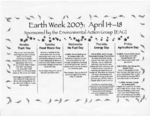 Earth Week Schedule 2003