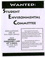 Student Environmental Committee Recruitment Flyer