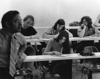 Professor Don Smith and students, 1973