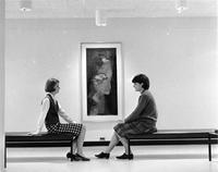 Students Sitting in the Scheaffer Art Gallery
