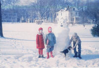 Smith Children and Snowman