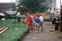 Group of Volunteers Building New Central Park Playground