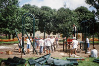 Group of Volunteers at Central Park Playground