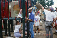 Volunteers Working on the New Central Park Playground