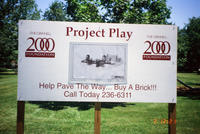 Grinnell 2000 Foundation Project Play Sign