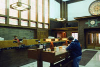 View of the Teller's Stations at Merchants' National Bank