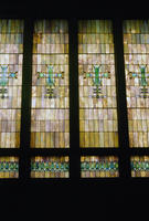 A View of the Stained Glass Windows in Merchants' National Bank