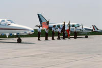 Color Guard at the Grinnell Regional Airport