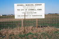 Grinnell Municipal Airport Sign
