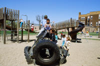 Children on the Davis Elementary School Playground