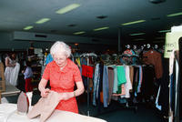 A Woman in Second Mile Thrift Shop