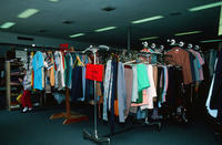 Clothing Racks at Second Mile Thrift Shop