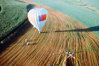Hot Air Balloon Landing in a Field