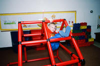 Child on Plastic Climbing Frame