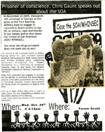School Of Americas Protest Poster 2005