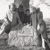 Camp Fire Girls at the Long Home Marker