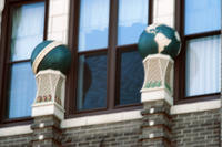 Globes on Pilasters on Masonic Temple