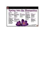 Spring Into the Humanities, Student symposium, April 7-9, 2014