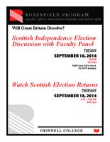Will Great Britain Dissolve? Scottish Independence Election Discussion with Faculty Panel ; Watch Scottish Election Returns