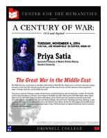 Priya Satia; The Great War in the Middle East