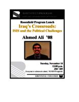 Rosenfield Program Lunch, Ahmed Ali '08