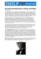 Current Perspectives on Porgy and Bess