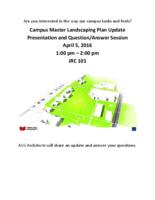 Campus Master Landscaping Plan Update