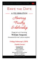 A celebration Honoring Faculty Scholarship