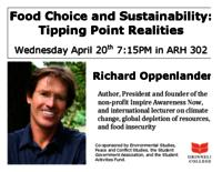 Food Choice and Sustainability : Tipping Point Realities