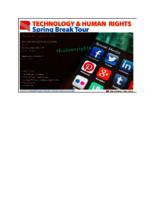 Technology & Human Rights Spring Break Tour